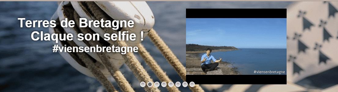 Terres de Bretagne claque son selfie #viensenbretagne